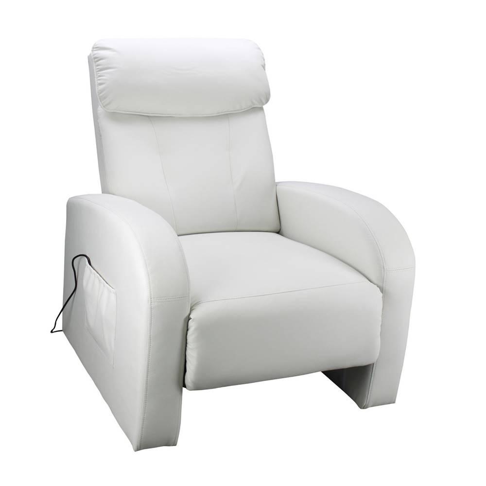 IDEA Nábytok Masážné kreslo TOLEDO krémovo biele K70